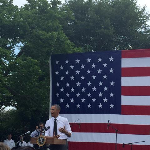 President Obama speaking to appointees across his Administration at the 2015 White House Summer Event.