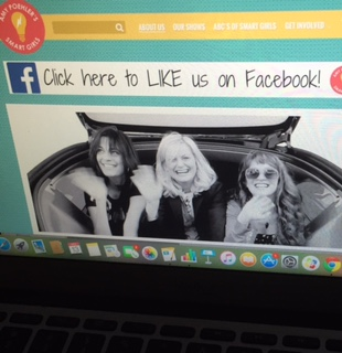 Amp Poehler, Meredith Walker, and Amy Miles on the About Us page of the Smart Girls website.