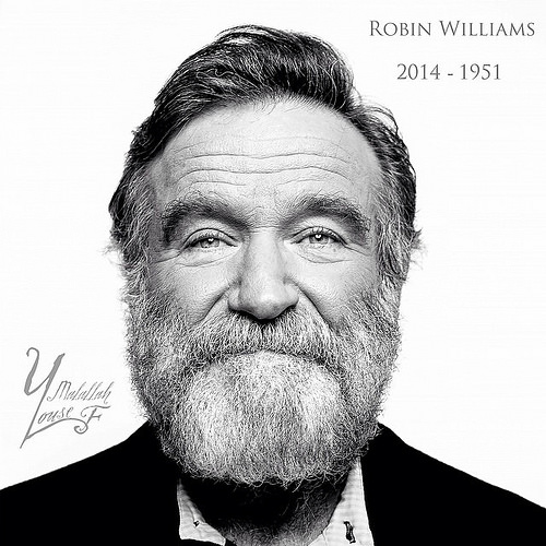 Robin Williams: A truly inspiring and remarkable man. Thank you for the extraordinary footprints you left in the hearts of millions.