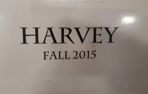 This picture is of the Harvey title on Mr. Miller, the Jesuit Masque's theatre director, binder.