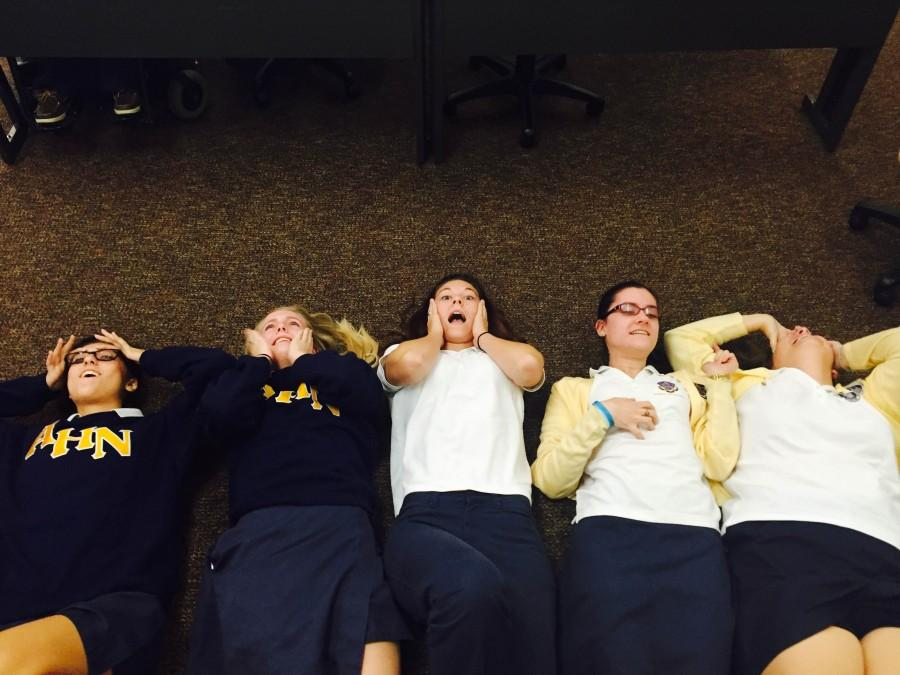 AHN Seniors feeling stressed with the quarter coming to an end.