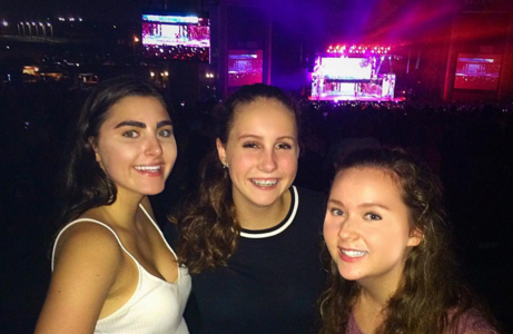 It is concert season! Sophomores Kayla Eckermann, Gretchen Swenson, and Audrey Diaz enjoy a concert featuring their favorite bands.