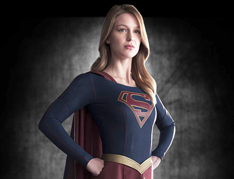 Supergirl Melissa Benoist looking super.