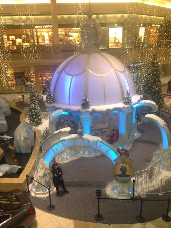 By the end of October, the Ice Palace at the mall was already set up!