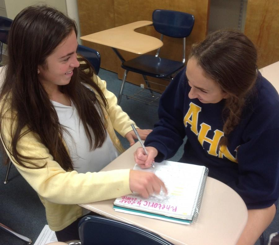 Junior Olivia Porcaro says she spends on average four to five hours a night on studying and homework.