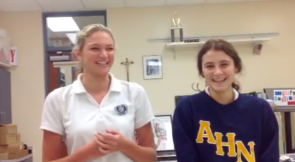 Camille Opp (11) and Avery Stanechewski (12) smile as they reflect on their friendship of two years!