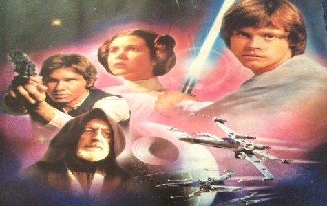 Merchandise portraying members of the original Star Wars cast, like this gift bag, are resurfacing in anticipation of the new trilogy.