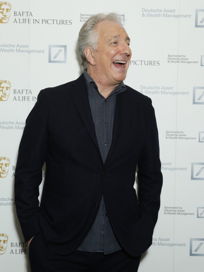 Alan Rickman attends the BAFTA hosted A Life in Pictures with Alan Rickman event on April 15, 2015 in London. The actor has died from cancer at age 69, his family said on Jan. 14, 2016.
