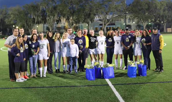 The soccer team was excited to celebrate and honor the seniors on Friday night's Senior Night.