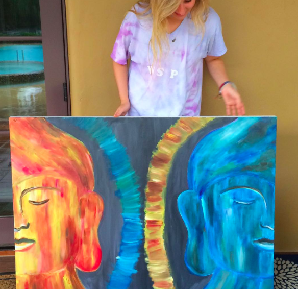 Natalie Cevallos has been painting for