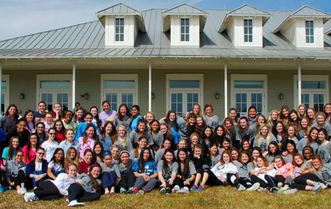 The Class of 2016 at their last senior retreat. Over the past four years, these sisters have made many memories that they will remember for the rest of your life.