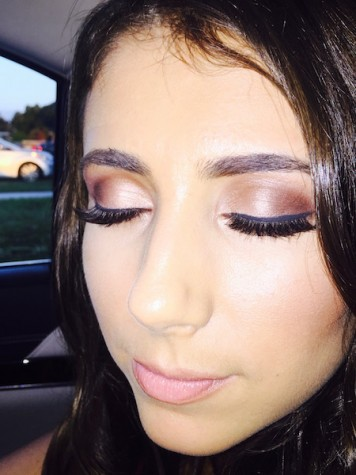 Senior, Lily Oliva, before the homecoming dance when she got her makeup done at MAC. They taught her how to contour and how to properly do her makeup.