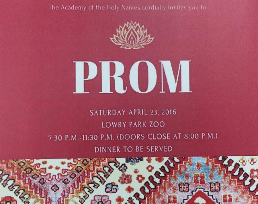 Credit: Rachel McKenna/Achona Online The Prom Committee made the invitations for Prom adorable!