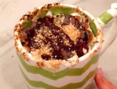 A quick and easy dessert to enjoy on a cozy movie night!