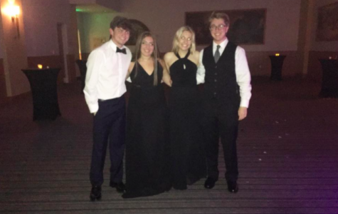 My best friends and I were the last ones standing at prom.. literally! We stayed until the Jesuit teachers asked us to please go home.