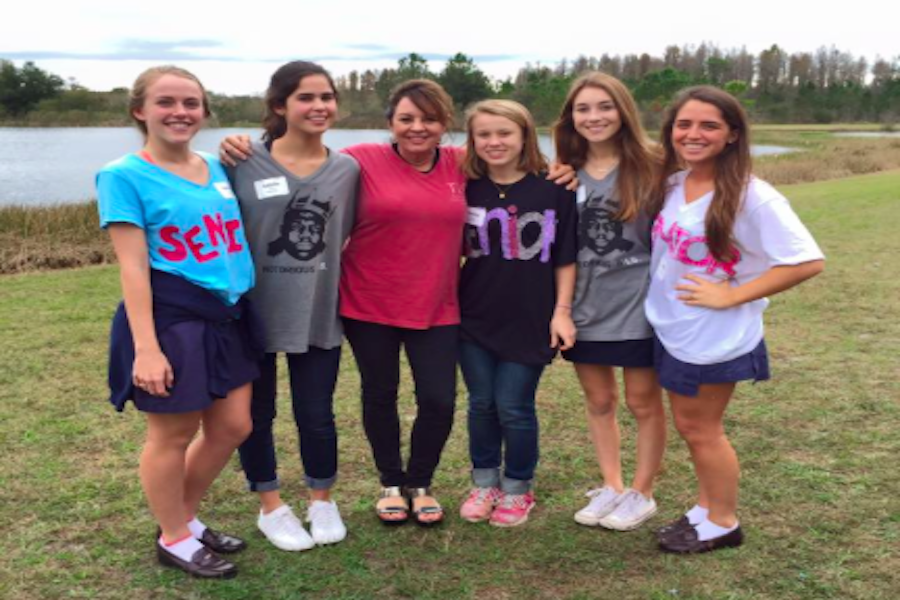 Officer responsibilities extend beyond TLC. The 2015-2016 Officers led the Freshman Retreat at the Bethany Center in December.