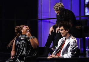 La'Porsha Renae, Dalton Rapattoni, and MacKenzie Bourg preparing for the next show of American Idol.