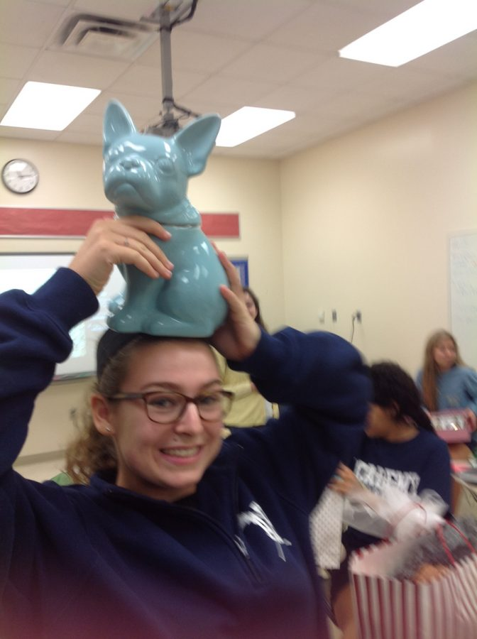 For Christmas, sophomore Feraby Hoffman chose this French Bulldog. She named him Ernest after a character in the French novel, Lettres D'Amour à 0-10