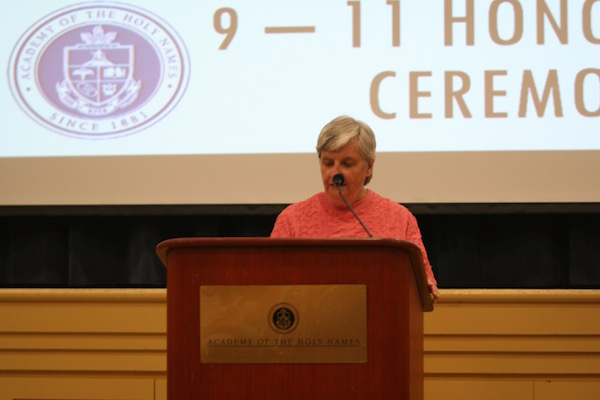 Credit: Rachel McKenna/Achona Online Sister Ann Regan presented the majority of the awards at the ceremony.