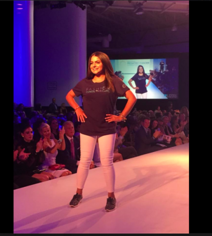Senior Remi Storch strutting her stuff on the runway for her final time.