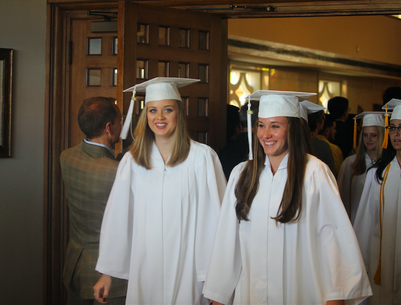 Baccalaureate Mass sends seniors off with the guidance of the Holy Spirit.