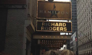 The Richard Rodgers Theater, home of Hamilton: An American Musical