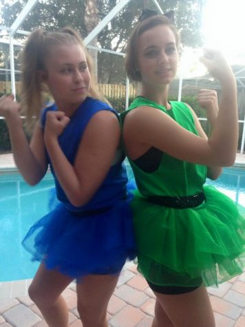 Laura Henry and Alessandra Nies ready to take on Halloween.