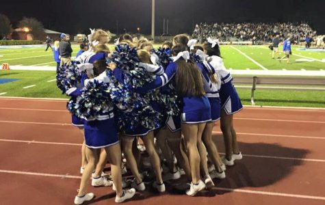 Freshman, Caylie Hubbert, claims that she loves cheering on varsity because it has allowed her to make new friends and become more outgoing. Photo Credit: Renee Flaharty (used with permission)