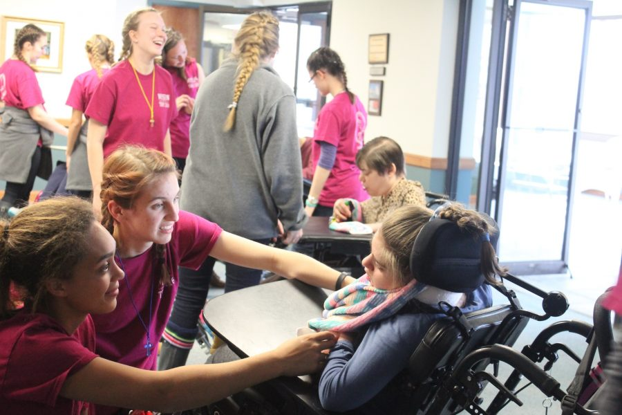 The Scranton mission trip visits St. Josephs Center during every trip where they take care of mentally and physically handicapped kids and adults.