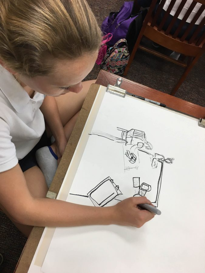 Drawing Class Turns Scribbles into Works of Art