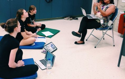 Theatre Director, Vivian Kimbler, leads the Acting Advanced students in their in-depth studies of theatre.