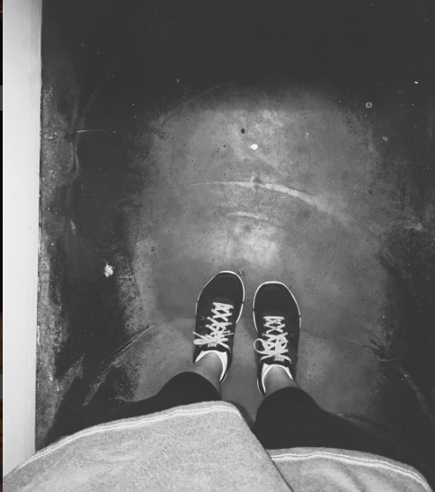 Perez took this artsy picture on a rainy day at the movies.