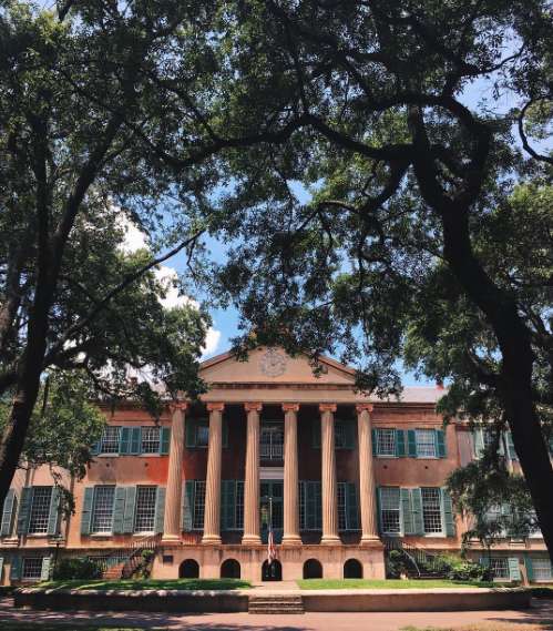 Morgan Graff photographs this picture while visiting the College of Charleston, which visits Academy on September 30.  Graff cannot wait to see what their rep has to say at her visit!