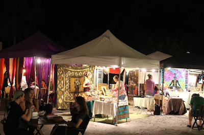 (Photo Credit: Keri Kelly/ACHONA Online) The Monday Night Moonlight Market is a version of another market called the Vagabond Gita.