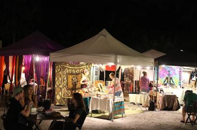 (Photo Credit: Keri Kelly/ACHONA Online) The Monday Night Moonlight Market is a version of another market called the Vagabond Gita.