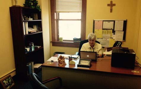 In addition to making sure Academy carries out its mission, Sr. Ann admits that she loves reading Achona. Photo Credit: Jessica Galvis/Achona Online