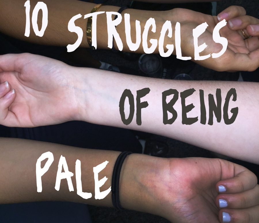 Seniors Audrey Anello and Jessica Zakhary don't understand #palegirlstruggles