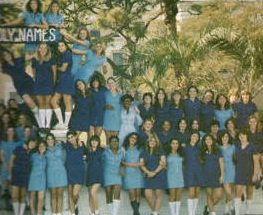 Class of 1980 gathers for a class picture Senior year.