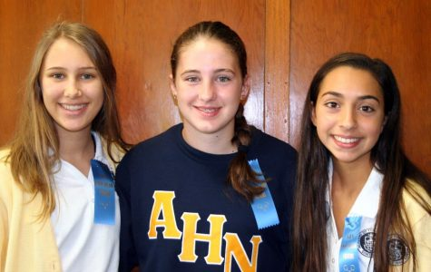 (From left to right) Isabella Addison, Caroline Lamoureux, and Lauren Lamoutte