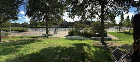 (Photo Credit: Keri Kelly/ ACHONA Online) Curtis Hixon offers scenic views of the Hillsborough river. Bring a bike and traverse the Riverwalk all the way from Channelside to Ulele.