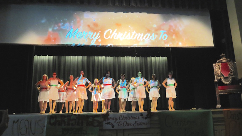 "Academy's 2016 Christmas production was beyond a success. The Quarter notes opened the show with a video of what Christmas means to them and transitioned to ""Jingle Bells."" photo credit: Maria Cacciatore/Achona Online"