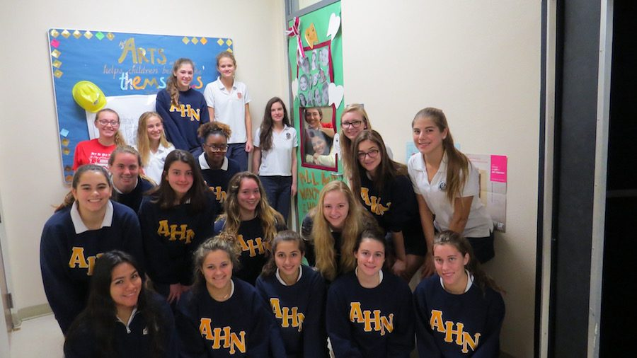Sister Lisa Perkowski's homeroom won the best homeroom over all for their door.