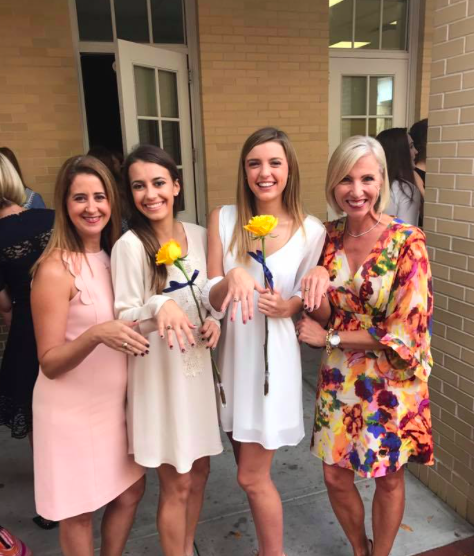 My mom made sure I got the same exact ring as her, so its very special to realize that she has been in the exact same position that I am in, said Claire Obeck
