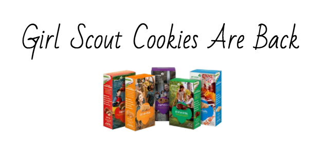 Cookies are sold annually in January by the Girl Scouts.
