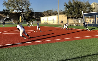 Academy softball kicks off their season by winning both preseason games against Gaither and Alonso.