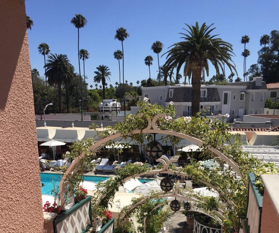 The Beverly Hills Hotel is a great spot to have lunch and one of the best places to stay in LA. Photo Credits: Kali Bradley (used with permission)