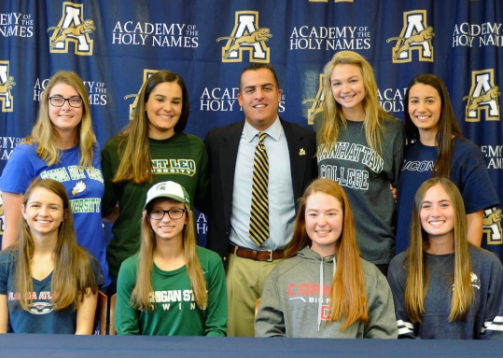 National college signing day this year was Wednesday, February first. Photo credit: Twitter.com/@Holynamestpa