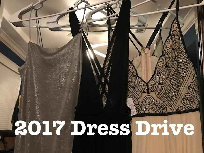 Bring in dresses this week and next week to either donate or rent to the 2017 Dress Drive.