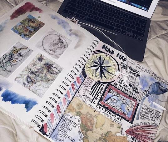 Journals can be used as planners, sketchbooks, recipe books, or anything personal to the student. Photo Credit: Grace Neal/Achona Online