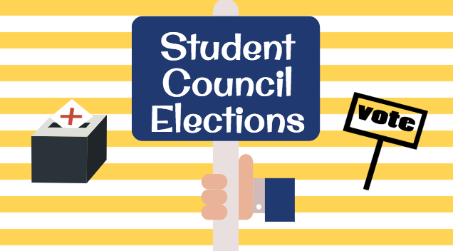 Three students ran for the position of president and three others ran for vice president.